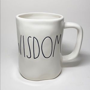 NWT Rae Dunn WISDOM LL Mug Dimples